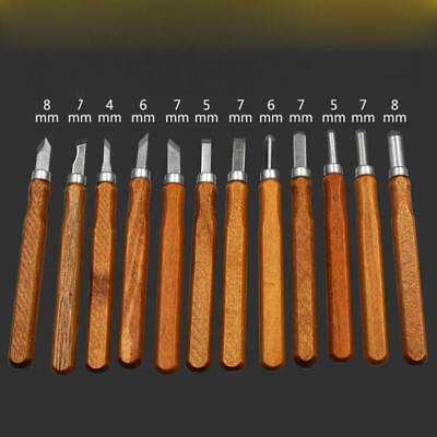 12PCS Wood Carving Hand Chisel Woodworking Tool Set Woodworkers Gouges New RAA