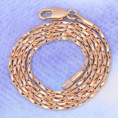 """Charm Solid 18K Yellow gold Filled Women's Mens hip hop Chain necklace  17.7"""""""