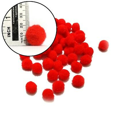 18mm Red Pom Poms 25-500 Pack ~ Premium Quality! Ideal Xmas Craft Reindeer Noses