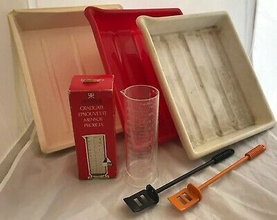 Photography Darkroom Developing Trays, Measuring Cylinder & Chemical Stirrers