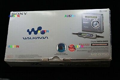 Sony Mz G750 Minidisc Player Recorder With  Microphone.