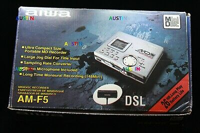 Aiwa Am F5 Minidisc Player Recorder With  Microphone.