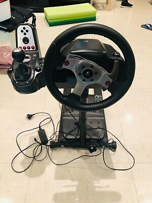 Logitech G25 Driving Force Wheel with Fanatec CSL wheel stand