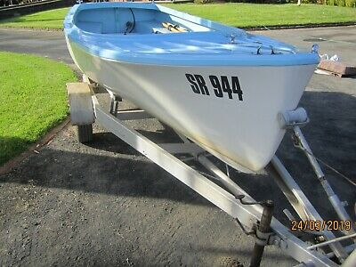 1950's PUTT PUTT SAVAGE 15 FT BOAT AND TRAILER FULLY RESTORED,  70  years old