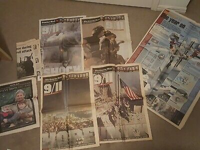 Vintage Newspaper tributes: QLD Courier Mail 9/11 and Steve Irwin Tribute