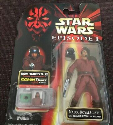 Star Wars, Episode One, NABOO ROYAL GUARD, In Original Unopened Card, 1999,