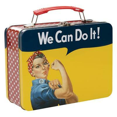 ROSIE THE RIVETER - Large Tin Tote / Metal Lunch Box Smithsonian - WWII Icon