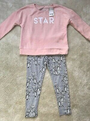 Next Girls Cat Fleece Pyjamas Age 8 Years (7-8 Yrs Up to 128cm)