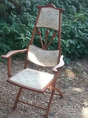 Arts and Crafts folding campaign chair