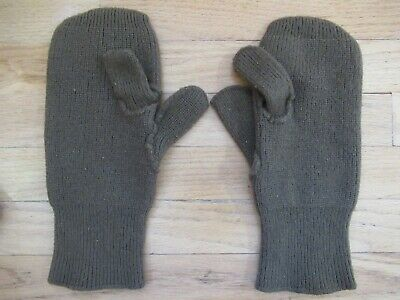 WWII US Army Green Wool Mittens with Trigger Finger EXCELLENT CONDITION