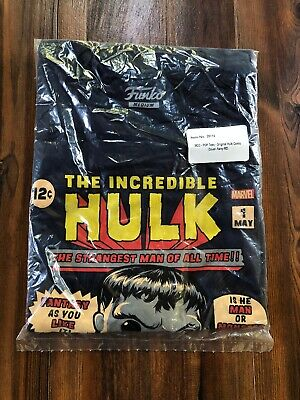Funko Pop Tee Marvel Series Incredible Hulk Collectors Corps Exclusive Medium