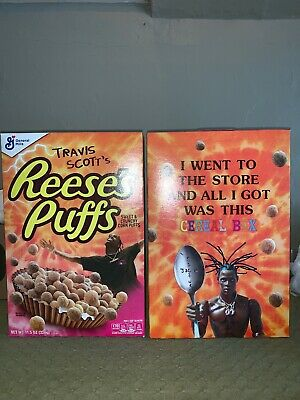 Travis Scott's Reeses Puffs Cereal Box - Special Edition - SOLD OUT IN STORES