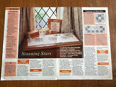 Hardanger Christmas Star Table Runner & Picture (from a magazine)