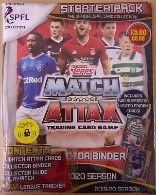 Topps Match Attax SPFL 2019/20 ~ Trading Card Collection ~ Starter Pack