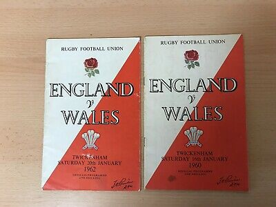 2 Wales V England Rugby Union Programmes