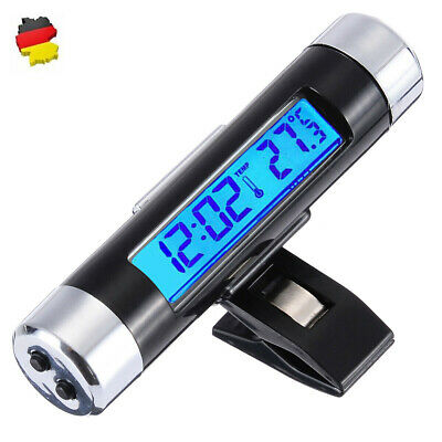 Universal Mini 180° Auto Entlüfter LED Temperatur Thermometer UHR 2in1