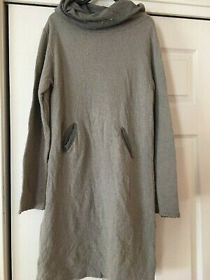 Girls Designer Oplililai Long Sleeve Funnel Neck Dress Size 10 New With Tags