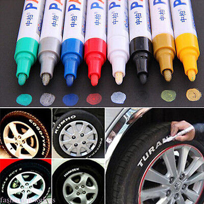 1PC White Waterproof Permanent Paint Marker Pen Car Auto Tyre Repair Tool Supply