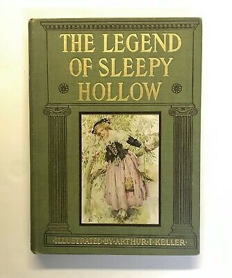 *RARE* LEGEND OF SLEEPY HOLLOW- Beautifully Illustrated by Arthur I. Keller 1906