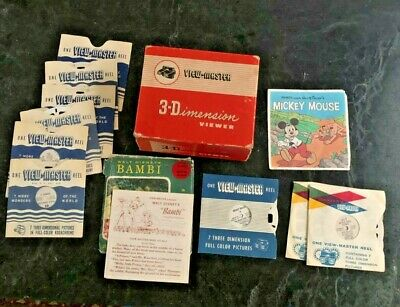 3-Dimension Viewer View Master Model E Box and Reels