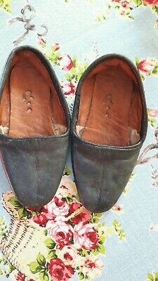Original vintage small cute child's  leather shoes/slippers