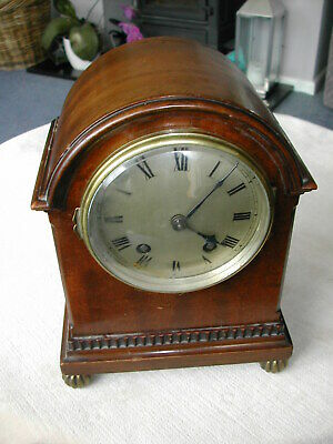 Edwardian striking mantel clock
