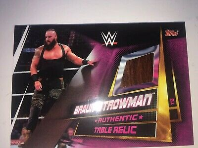 WWE Slam Attax Universe Table Relic Braun Strowman topps 1 in 1791 pack chance.