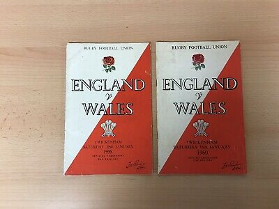 2 England V Wales Rugby Union Programmes 1958 & 1960