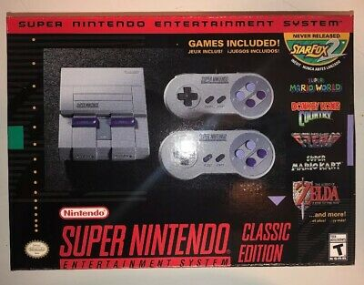 Super Nintendo Entertainment System SNES Classic Edition-21 Games! (New in Box)