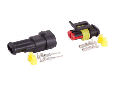 Carmotion Electrical 2-Way Connector Hermetic 1 Set Plug + Socket