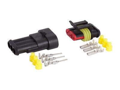 Carmotion Electrical 3-Way Connector Hermetic 1 Set Plug + Socket