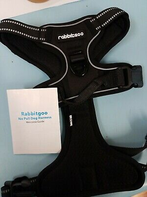 Rabbitgoo Dog Harness NoPull Pet Control Adjustable Reflective Collar Sz LG