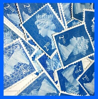 100 2nd Class Unfranked Stamps Security Type Off Paper No Gum Stamp Cheap