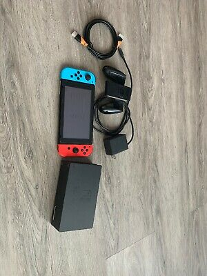 Nintendo Switch Neon Red and Neon Blue Joy-Con Console With Dock