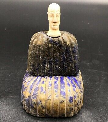 Antique Very Old Bactrain Lapiz Lazuli Stone Two Pices Male Uniqe Statue Idol