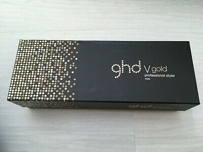 GHD V Gold Professional Styler Max Empty Box, insert & Product Book