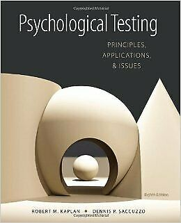 [PDF] Psychological Testing Principles, Applications, and Issues 8th Edition ...