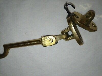 Large Victorian Brass Door Latch Lock Bathroom Antique Hook Old