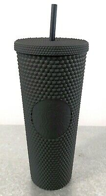 Starbucks Matte Black Studded Tumbler Cup Spiked Fall HALLOWEEN Goth 2019 24 Oz