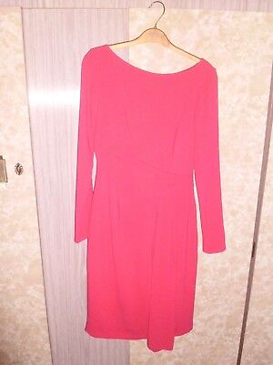 coast dress size  8,cerese red,polyester,