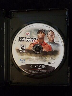Tiger Woods PGA Tour 14 PS3 Game (Sony PlayStation 3, 2013)  w/ Gamestop case!