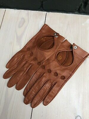 Womens Vintage Leather Gloves