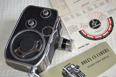 BOLEX C8 movie camera with strap MINT. BOXED Instruction manual. YVAR 12.5 lens