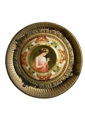 Stunning Antique Royal Vienna Porcelain Hand Painted Plate Singed Wagner