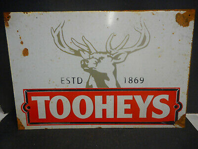 Tooheys Stag Beer Pub Sign  Rustic  Tin Sign