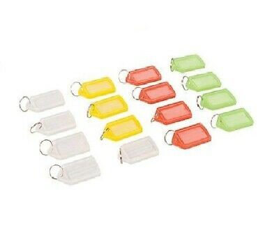 Extra Large Plastic Key Ring ID Tags Name Label Key Fob Tag - Various Colours