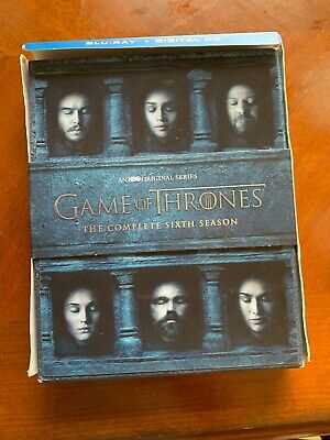 Game of Thrones: The Complete 6th Season (Blu-ray Disc, 2016, 4-Disc Set,...
