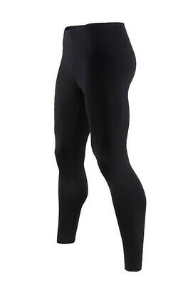 Mens Ultra Soft Fleece Lined Thermal Underwear Leggings Compression Pants