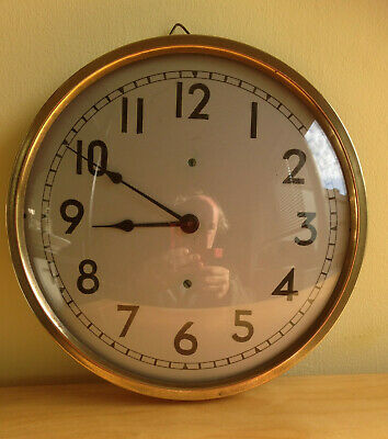 Vintage Brass Wall Clock - Fwo