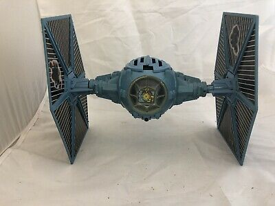Vintage Star Wars Battle Damaged Tie Fighter Blue Complete Kenner Esb 1980